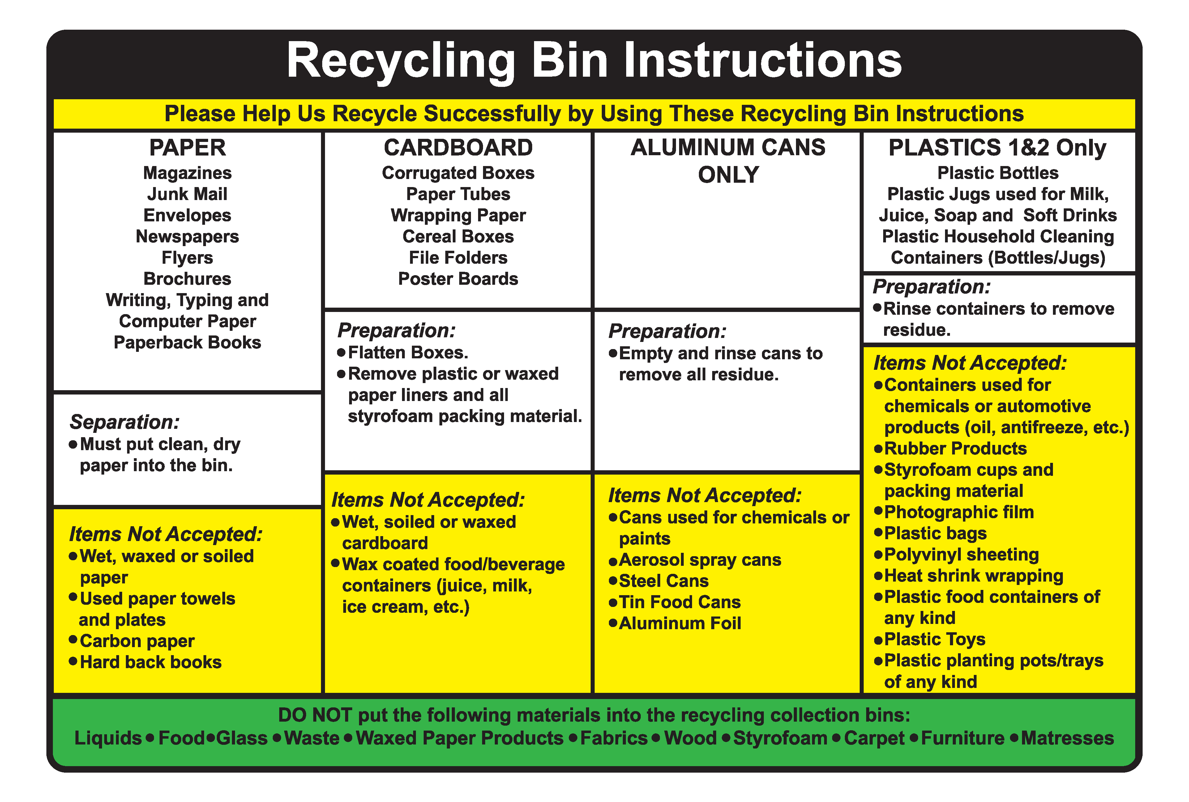 Indiana pike county stendal - Recyclinginstructions_decal